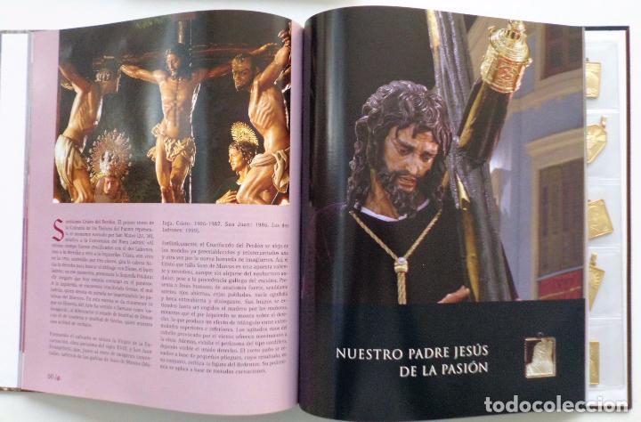 Carteles de Semana Santa: LIBRO IMAGENES DE LA SEMANA SANTA DE MALAGA CON 20 MEDALLAS DE LAS COFRADIAS VOL.I - Foto 2 - 103225991