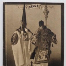 Carteles de Semana Santa: DOCUMENTO GRAFICO EDITADO POR LA AGRUPACION DE COFRADIAS SEMANA SANTA DE MALAGA AÑO 1951. Lote 103230867