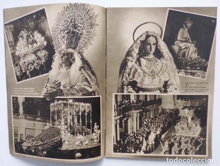 Carteles de Semana Santa: DOCUMENTO GRAFICO EDITADO POR LA AGRUPACION DE COFRADIAS SEMANA SANTA DE MALAGA AÑO 1952 - Foto 3 - 103231507