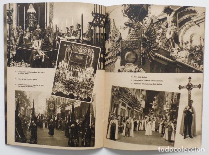 Carteles de Semana Santa: DOCUMENTO GRAFICO EDITADO POR LA AGRUPACION DE COFRADIAS SEMANA SANTA DE MALAGA AÑO 1952 - Foto 9 - 103231507