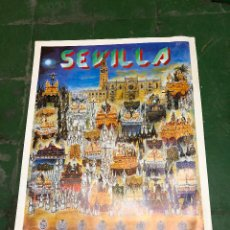 Carteles de Semana Santa: LOTE DE CARTELES SEMANA SANTA SEVILLA SEMANA COMPLETA AÑO 1988. Lote 103467523