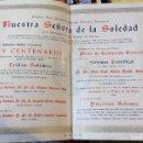 Carteles de Semana Santa: SEMANA SANTA SEVILLA, 1957, CULTOS SOLEDAD SAN LORENZO IV CENTENARIO FUNDACIONAL,37X26 CMS. Lote 104086923