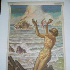 Carteles de Semana Santa: CARTEL RELIGIOSO JONAS SALVADO DEL MONSTRUO MARINO, EDIT.: JOSÉ VILAMALA, BARCELONA, N. 20, MIDE 100. Lote 107201947