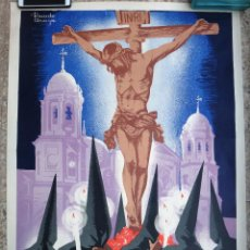 Carteles de Semana Santa: CARTEL SEMANA SANTA , CADIZ , 1962 , RICARDO ANAYA , ORIGINAL. Lote 206330147