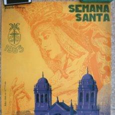 Carteles de Semana Santa: CARTEL SEMANA SANTA , CADIZ , 1965 , RICARDO ANAYA , ORIGINAL ,C2. Lote 204733518