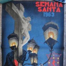 Carteles de Semana Santa: CARTEL SEMANA SANTA , CORDOBA , 1963 , GRANDE , RICARDO ANAYA , ORIGINAL. Lote 192770406