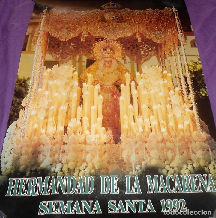 PÓSTER / CARTEL HERMANDAD DE LA MACARENA. SEMANA SANTA 1992 (Coleccionismo - Carteles Gran Formato - Carteles Semana Santa)