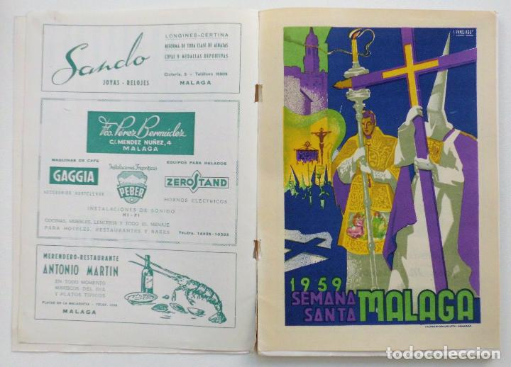 Carteles de Semana Santa: REVISTA LA SAETA AÑO 1959 SEMANA SANTA DE MALAGA - Foto 9 - 110129567
