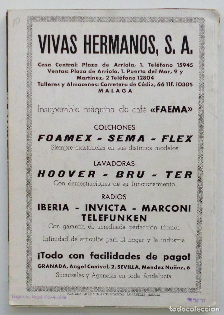 Carteles de Semana Santa: REVISTA LA SAETA AÑO 1959 SEMANA SANTA DE MALAGA - Foto 11 - 110129567