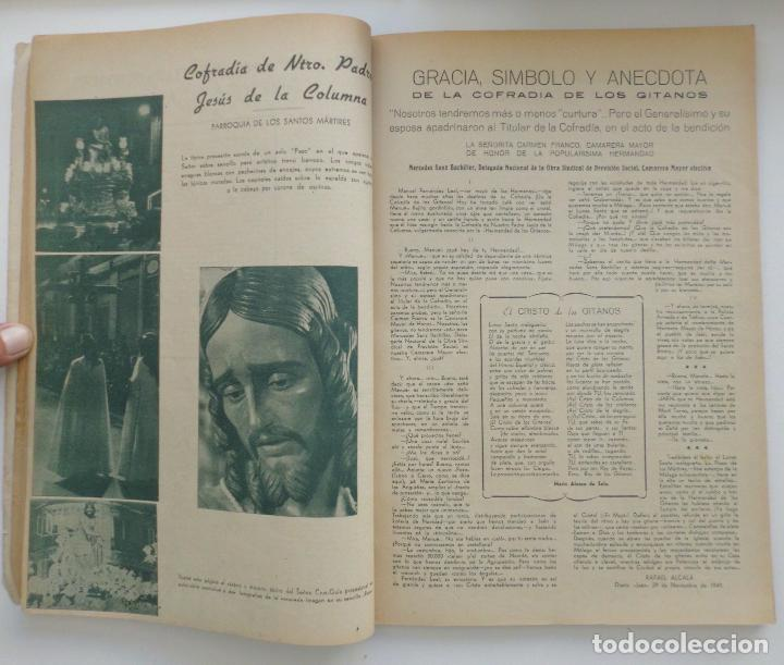 Carteles de Semana Santa: REVISTA LA SAETA AÑO 1950 SEMANA SANTA DE MALAGA - Foto 5 - 110131775