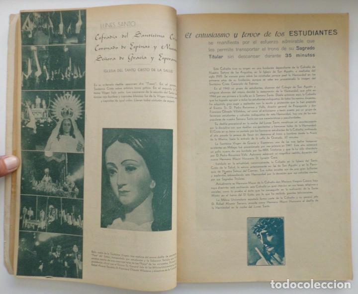 Carteles de Semana Santa: REVISTA LA SAETA AÑO 1950 SEMANA SANTA DE MALAGA - Foto 6 - 110131775