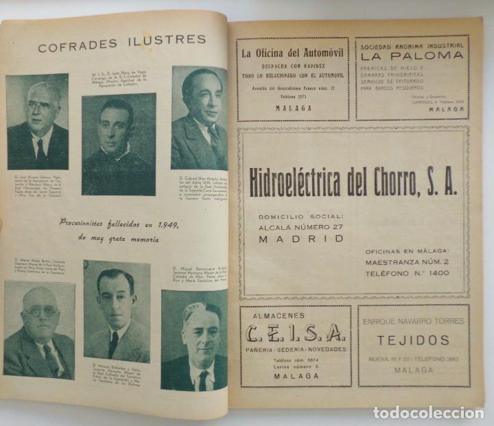 Carteles de Semana Santa: REVISTA LA SAETA AÑO 1950 SEMANA SANTA DE MALAGA - Foto 7 - 110131775
