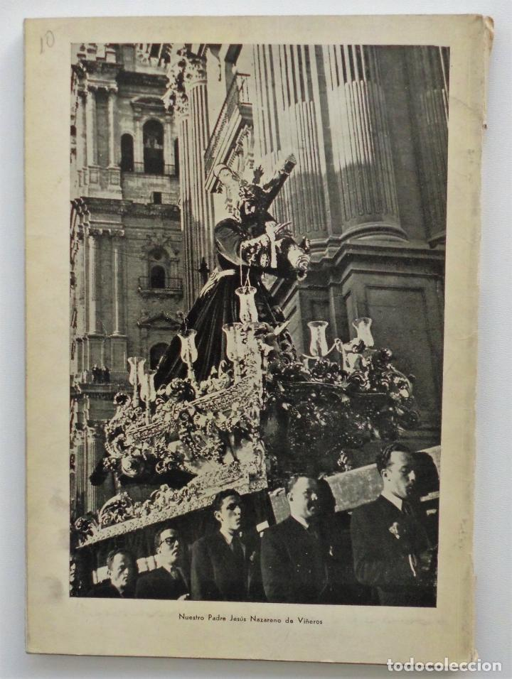 Carteles de Semana Santa: REVISTA LA SAETA AÑO 1958 SEMANA SANTA DE MALAGA - Foto 2 - 110133355