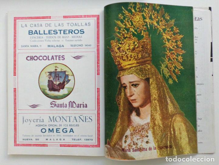 Carteles de Semana Santa: REVISTA LA SAETA AÑO 1958 SEMANA SANTA DE MALAGA - Foto 5 - 110133355