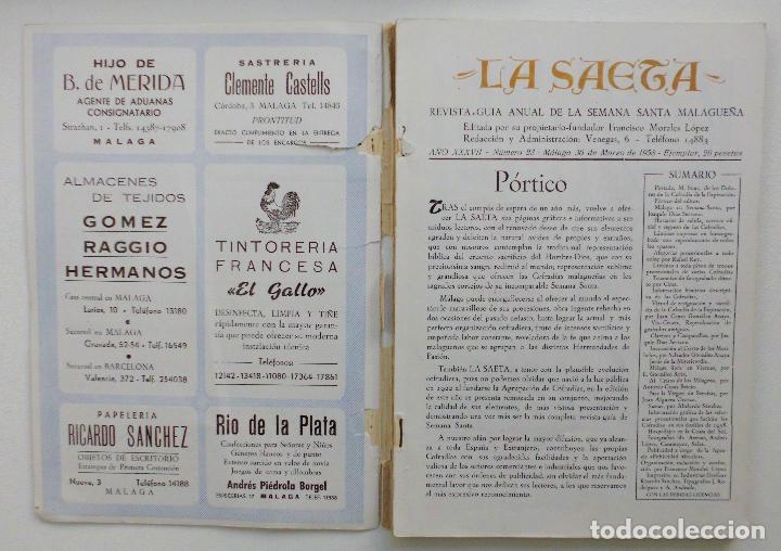 Carteles de Semana Santa: REVISTA LA SAETA AÑO 1958 SEMANA SANTA DE MALAGA - Foto 7 - 110133355