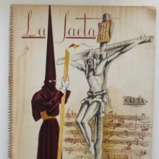 Carteles de Semana Santa: REVISTA LA SAETA AÑO 1949 SEMANA SANTA DE MALAGA . Lote 110135031
