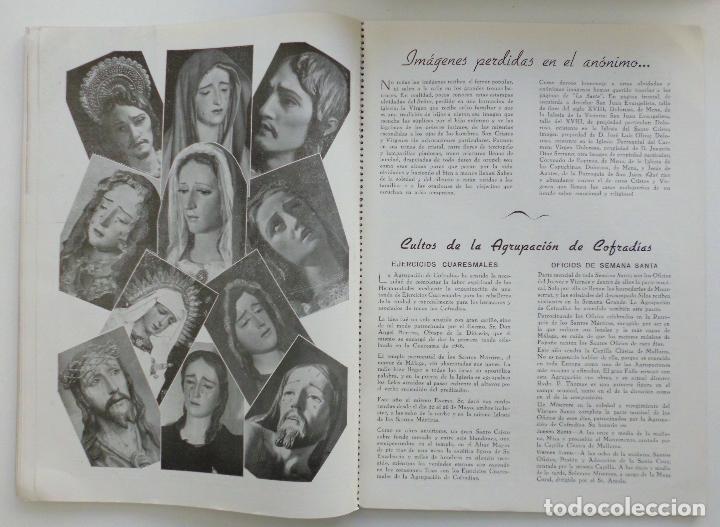Carteles de Semana Santa: REVISTA LA SAETA AÑO 1949 SEMANA SANTA DE MALAGA - Foto 2 - 110135031