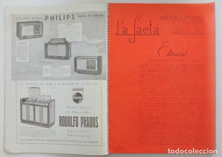 Carteles de Semana Santa: REVISTA LA SAETA AÑO 1949 SEMANA SANTA DE MALAGA - Foto 4 - 110135031