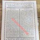 Carteles de Semana Santa: SEVILLA, 1816, EDICTO PARA QUE ESTANDO EL SANTISIMO MANIFIESTO , EL PAÑO DE ALTAR SEA BLANCO,20X30. Lote 110670039