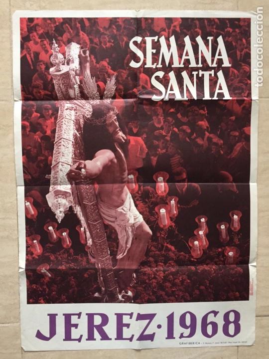 CARTEL SEMANA SANTA 1968 JEREZ (Coleccionismo - Carteles Gran Formato - Carteles Semana Santa)