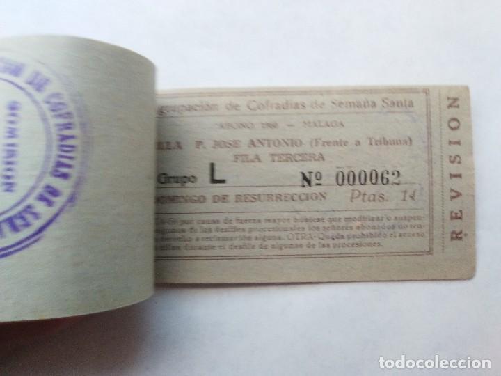 Carteles de Semana Santa: ABONO SEMANA SANTA 1960 MALAGA - AGRUPACION DE COFRADIAS - PLAZA JOSÈ ANTONIO - ENTRADA - Foto 7 - 221661920