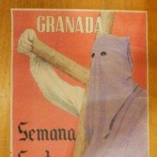 Carteles de Semana Santa: CARTEL - GRANADA - SEMANA SANTA 1943 - 42 CM X 29,5 CM.. -. Lote 116000655