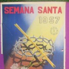 Carteles de Semana Santa: CARTEL SEMANA SANTA 1957, ALBACETE, PICAZO,. Lote 116882991