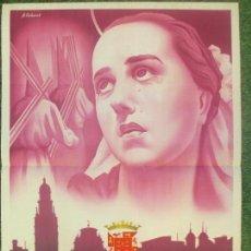 Carteles de Semana Santa: CARTEL SEMANA SANTA 1953, MURCIA, A. CARBONELL, SS12. Lote 116884575