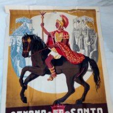 Carteles de Semana Santa: CARTEL POSTER SEMANA SANTA 1958 - LORCA - MURCIA - MEDIDAS 92 X 66 CM. RICARDO ANAYA - CON AGUJERO. Lote 118214891