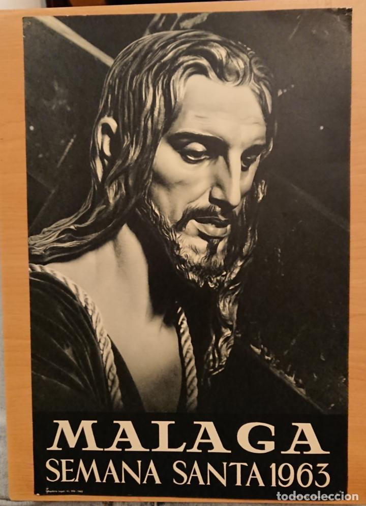 MÁLAGA, SEMANA SANTA 1963 (Coleccionismo - Carteles Gran Formato - Carteles Semana Santa)