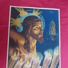 Carteles de Semana Santa: CARTEL. MÁLAGA. SEMANA SANTA . 1951. Lote 119386199
