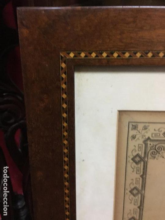 Carteles de Semana Santa: CONVOCATORIA VIRGEN DEL ROSARIO PATRONA DE CADIZ AÑO 1896 - MEDIDA MARCO 55X44 CM - RELIGIOSO - Foto 6 - 119556247