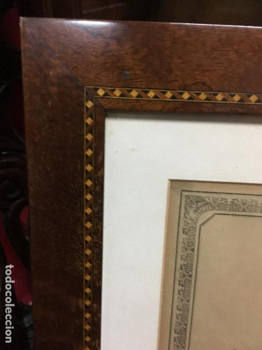 Carteles de Semana Santa: CONVOCATORIA VIRGEN DEL CARMEN CADIZ AÑO 1878 - MEDIDA MARCO 56X43,5 CM - RELIGIOSO - Foto 6 - 119556791