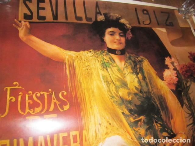 Carteles de Semana Santa: Fiestas de primavera Sevilla 1985 Semana Santa y Feria Impresionante cartel 160 X 110 cm. Cartulina - Foto 2 - 120662619