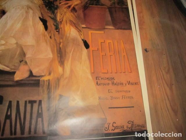 Carteles de Semana Santa: Fiestas de primavera Sevilla 1985 Semana Santa y Feria Impresionante cartel 160 X 110 cm. Cartulina - Foto 5 - 120662619