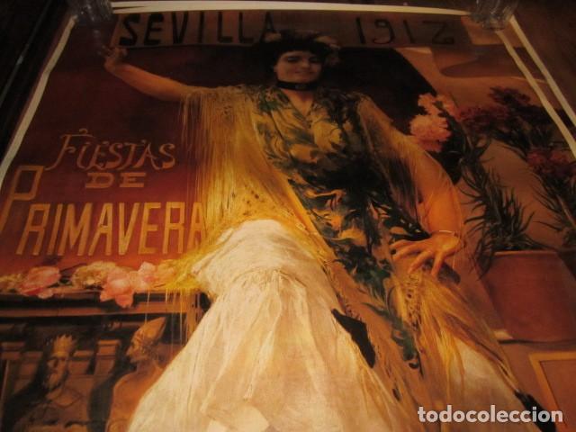 Carteles de Semana Santa: Fiestas de primavera Sevilla 1985 Semana Santa y Feria Impresionante cartel 160 X 110 cm. Cartulina - Foto 7 - 120662619