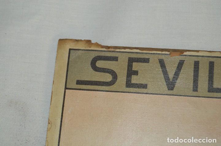 Carteles de Semana Santa: JOYA - 1916 - CARTEL DE SEMANA SANTA Y FERIAS DE SEVILLA - LITOGRAFÍA S. DURÁ VALENCIA - Foto 2 - 121971175