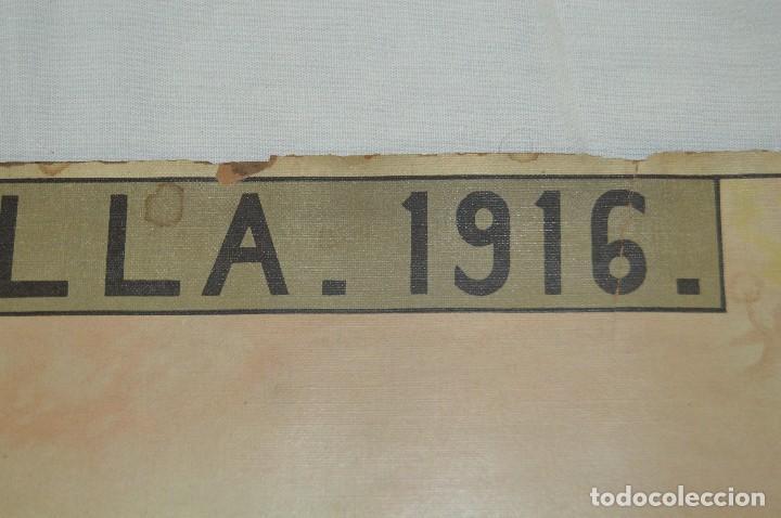 Carteles de Semana Santa: JOYA - 1916 - CARTEL DE SEMANA SANTA Y FERIAS DE SEVILLA - LITOGRAFÍA S. DURÁ VALENCIA - Foto 4 - 121971175