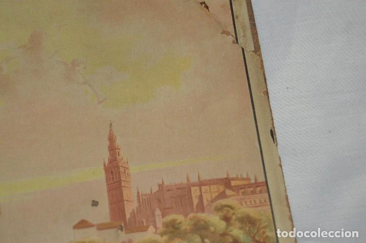 Carteles de Semana Santa: JOYA - 1916 - CARTEL DE SEMANA SANTA Y FERIAS DE SEVILLA - LITOGRAFÍA S. DURÁ VALENCIA - Foto 9 - 121971175