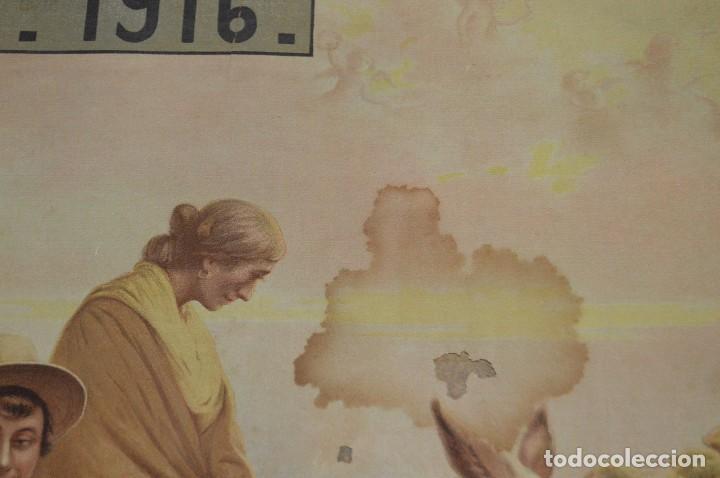 Carteles de Semana Santa: JOYA - 1916 - CARTEL DE SEMANA SANTA Y FERIAS DE SEVILLA - LITOGRAFÍA S. DURÁ VALENCIA - Foto 11 - 121971175