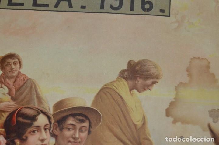 Carteles de Semana Santa: JOYA - 1916 - CARTEL DE SEMANA SANTA Y FERIAS DE SEVILLA - LITOGRAFÍA S. DURÁ VALENCIA - Foto 12 - 121971175