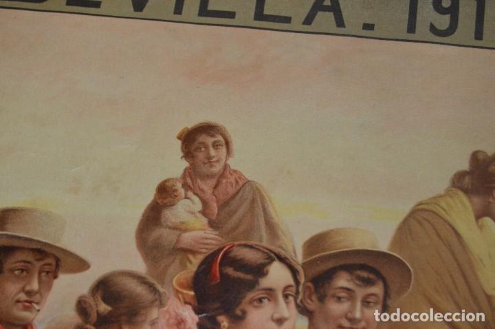 Carteles de Semana Santa: JOYA - 1916 - CARTEL DE SEMANA SANTA Y FERIAS DE SEVILLA - LITOGRAFÍA S. DURÁ VALENCIA - Foto 13 - 121971175