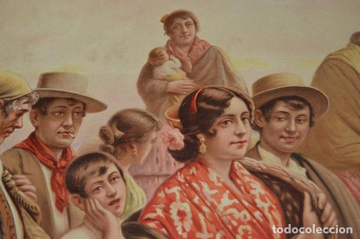 Carteles de Semana Santa: JOYA - 1916 - CARTEL DE SEMANA SANTA Y FERIAS DE SEVILLA - LITOGRAFÍA S. DURÁ VALENCIA - Foto 16 - 121971175