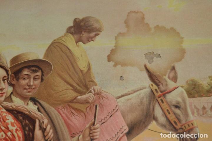 Carteles de Semana Santa: JOYA - 1916 - CARTEL DE SEMANA SANTA Y FERIAS DE SEVILLA - LITOGRAFÍA S. DURÁ VALENCIA - Foto 18 - 121971175