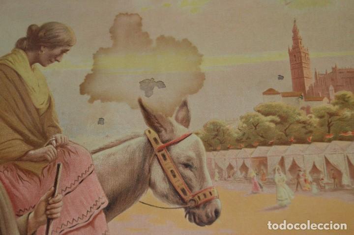 Carteles de Semana Santa: JOYA - 1916 - CARTEL DE SEMANA SANTA Y FERIAS DE SEVILLA - LITOGRAFÍA S. DURÁ VALENCIA - Foto 19 - 121971175