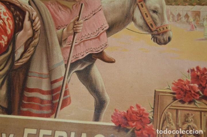 Carteles de Semana Santa: JOYA - 1916 - CARTEL DE SEMANA SANTA Y FERIAS DE SEVILLA - LITOGRAFÍA S. DURÁ VALENCIA - Foto 23 - 121971175