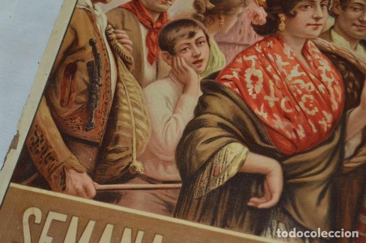 Carteles de Semana Santa: JOYA - 1916 - CARTEL DE SEMANA SANTA Y FERIAS DE SEVILLA - LITOGRAFÍA S. DURÁ VALENCIA - Foto 25 - 121971175