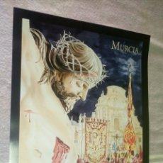 Carteles de Semana Santa: POSTER LAMINA SEMANA SANTA MURCIA 2014 CRISTO CATEDRAL / 42,5 X 58 CM. Lote 127642000