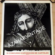 Carteles de Semana Santa: SEMANA SANTA DOS HERMANAS, 1992, CARTEL III CONCURSO CARTELES SEMANA SANTA ANDALUZA,44X64 CMS. Lote 127995239