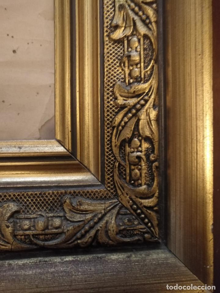 Carteles de Semana Santa: gran cartel grabado cristo del paño semana santa moclin granada marco madera dorada litografia anel - Foto 6 - 131000252